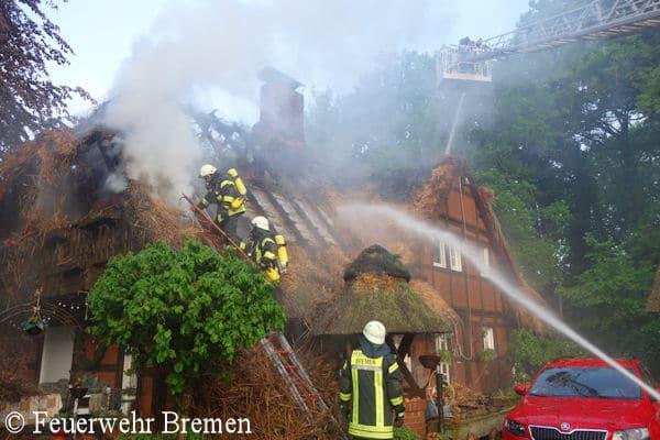 Feuer Bremen insel sylt reetdachhaus direkt an der nordsee abgebrannt