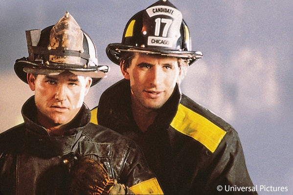 Kurt Russell und William Baldwin in dem Feuerwehr Film Backdraft