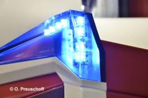 Nahaufnahme eines Blaulichts der Feuerwehr Symbolfoto: O.Preuschoff