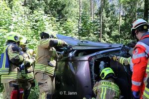 Dass Feuerwehrleute von ihren eigenen Kameraden aus dem Pkw geschnitten werden müssen, wünscht sich niemand. Symbolfoto: Timo Jann