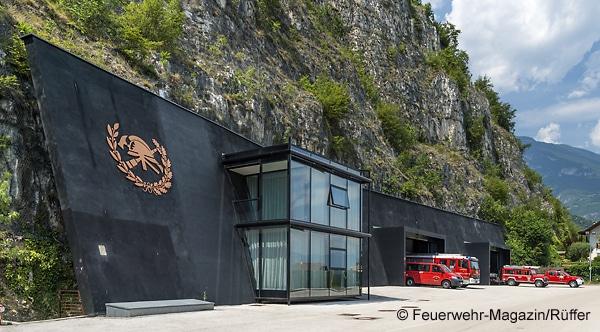 Eine internationale Berühmtheit: Feuerwehrhaus der FF Margreid in Südtirol (Italien). Foto: Michael Rüffer