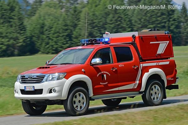 KTF-A der Feuerwehr Niederrasen (Südtirol, Italien) auf Pick-up Toyota Hilux Double Cab 3.0 D-4D.