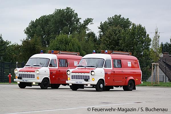Bis vor kurzem waren diese beiden Ford Transit (TSF) bei der Feuerwehr Alsfeld noch im Einsatz. Einer ist mittlerweile außer Dienst gestellt worden. Foto: Sven Buchenau