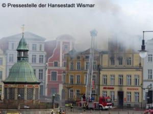 Gebäudebrand Altstadt Wismar