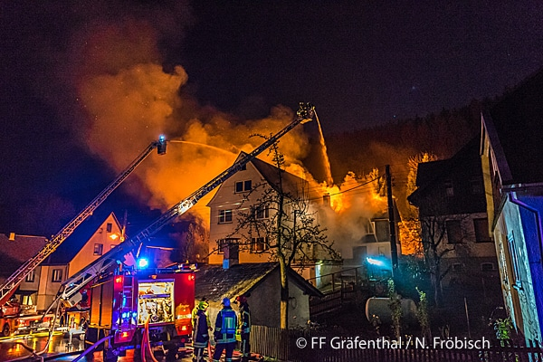 Einsatzbericht über schwierigen Brand in Gräfenthal