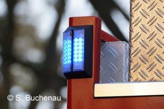 Blaulicht auf Feuerwehrfahrzeug