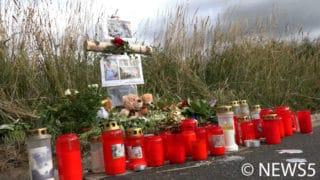Kerzen an der Unfallstelle