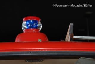 Erstes Blaulicht mit 360-Grad-Abstrahlung in Deutschland: Auer-Leuchte aus den 1950er Jahren. Foto: M. Rüffer