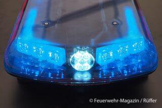 Blaulichtbalken mit LEDs als Hauptlicht und als Arbeitslicht (Alley Light). Foto: M. Rüffer
