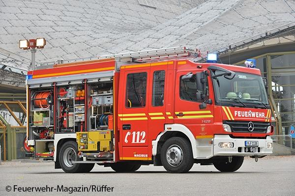 Eines von 58 identischen HLF, die BF und FF München nutzen.
