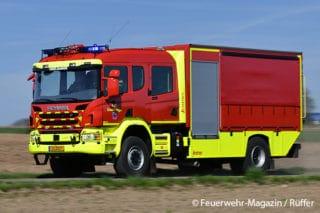 Von Lentner auf einem Scania P 370 CB 4x4 HHZ CP31 H gefertigt: Gerätewagen Logistik des Einsatzzentrums Useldingen (Luxemburg).