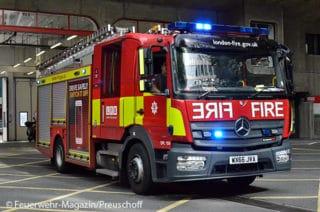 Löschfahrzeug der Feuerwehr London