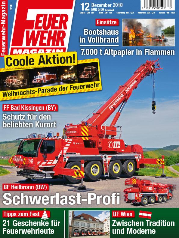Produkt: PDF-Download: Feuerwehr-Magazin 12/2018