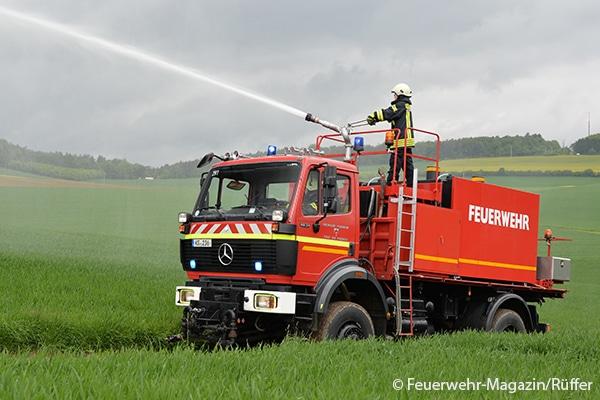 S-TLF gibt Wasser per Dachmonitor
