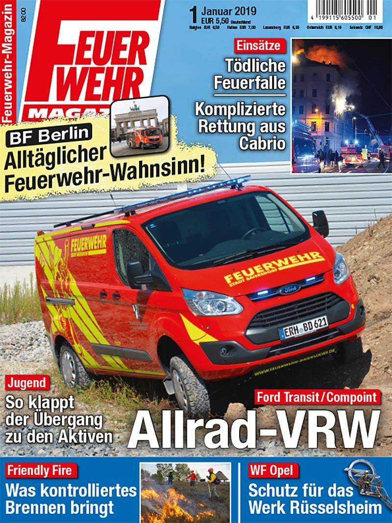 Produkt: Feuerwehr-Magazin 1/2019