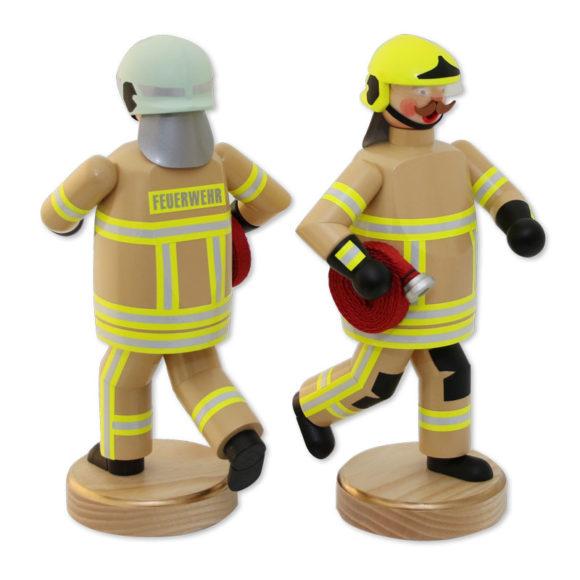 Räuchermännchen Feuerwehr Beige