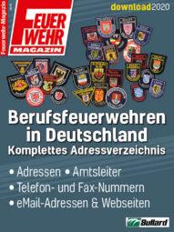 Produkt: PDF-Download: Download Liste der Berufsfeuerwehren in Deutschland