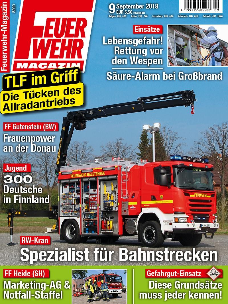 Produkt: Feuerwehr-Magazin Digital 09/2018