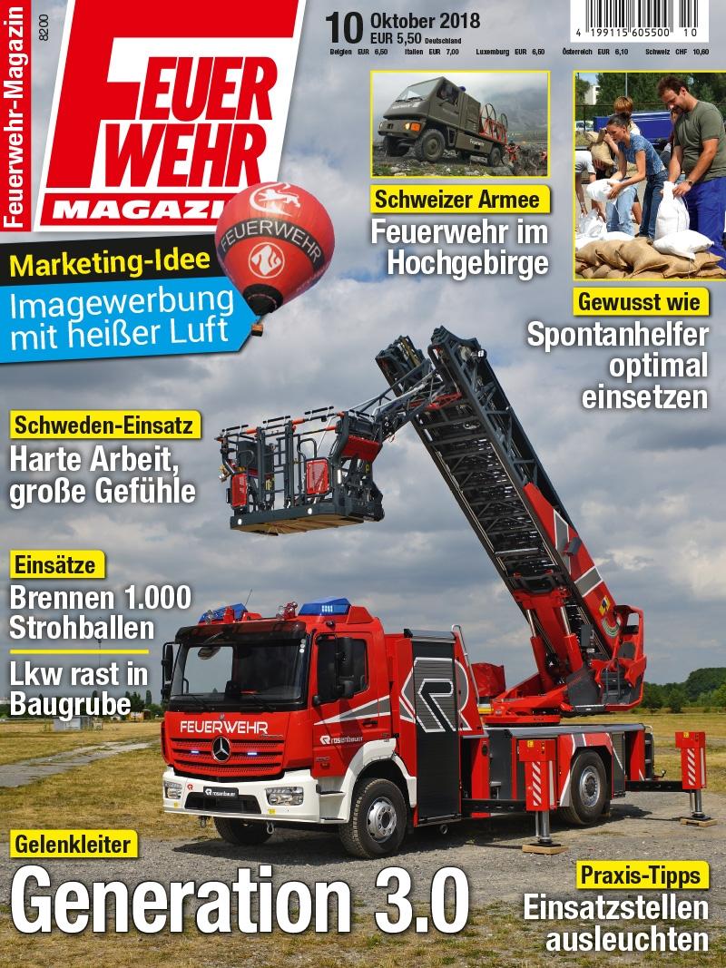 Produkt: Feuerwehr-Magazin Digital 10/2018