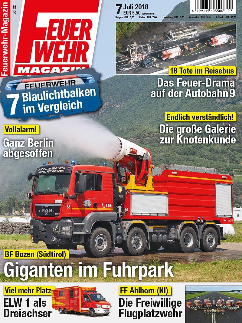 Produkt: Feuerwehr-Magazin Digital 07/2018