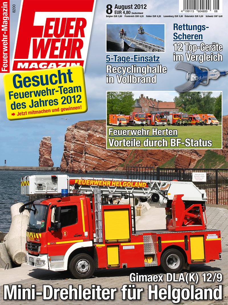Produkt: Feuerwehr-Magazin Digital 8/2012