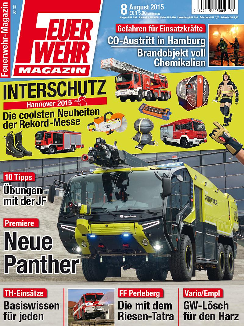 Produkt: Feuerwehr-Magazin Digital 8/2015