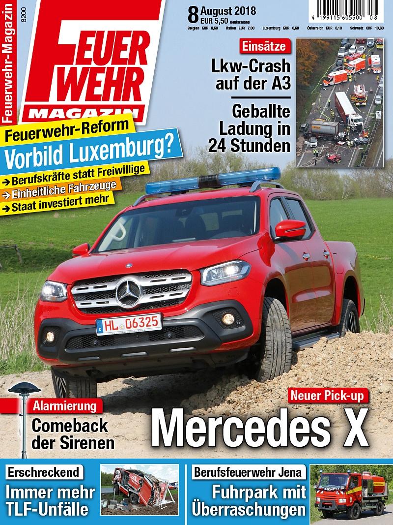 Produkt: Feuerwehr-Magazin Digital 08/2018