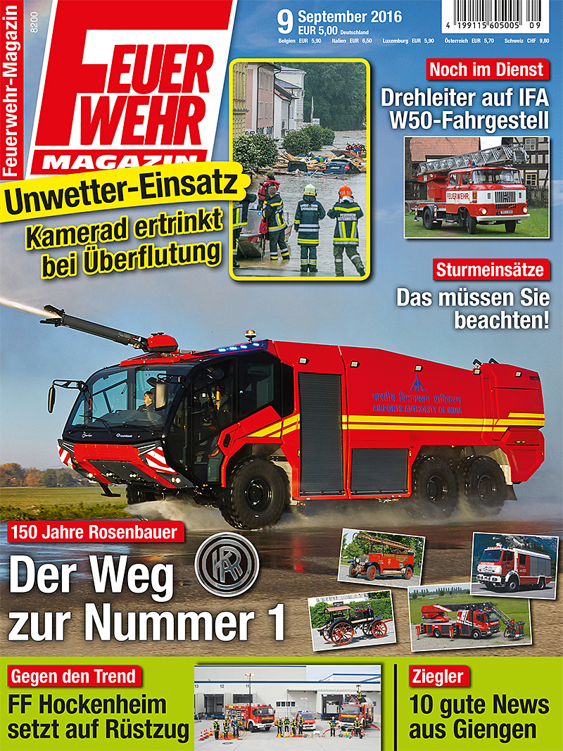 Produkt: Feuerwehr-Magazin Digital 9/2016