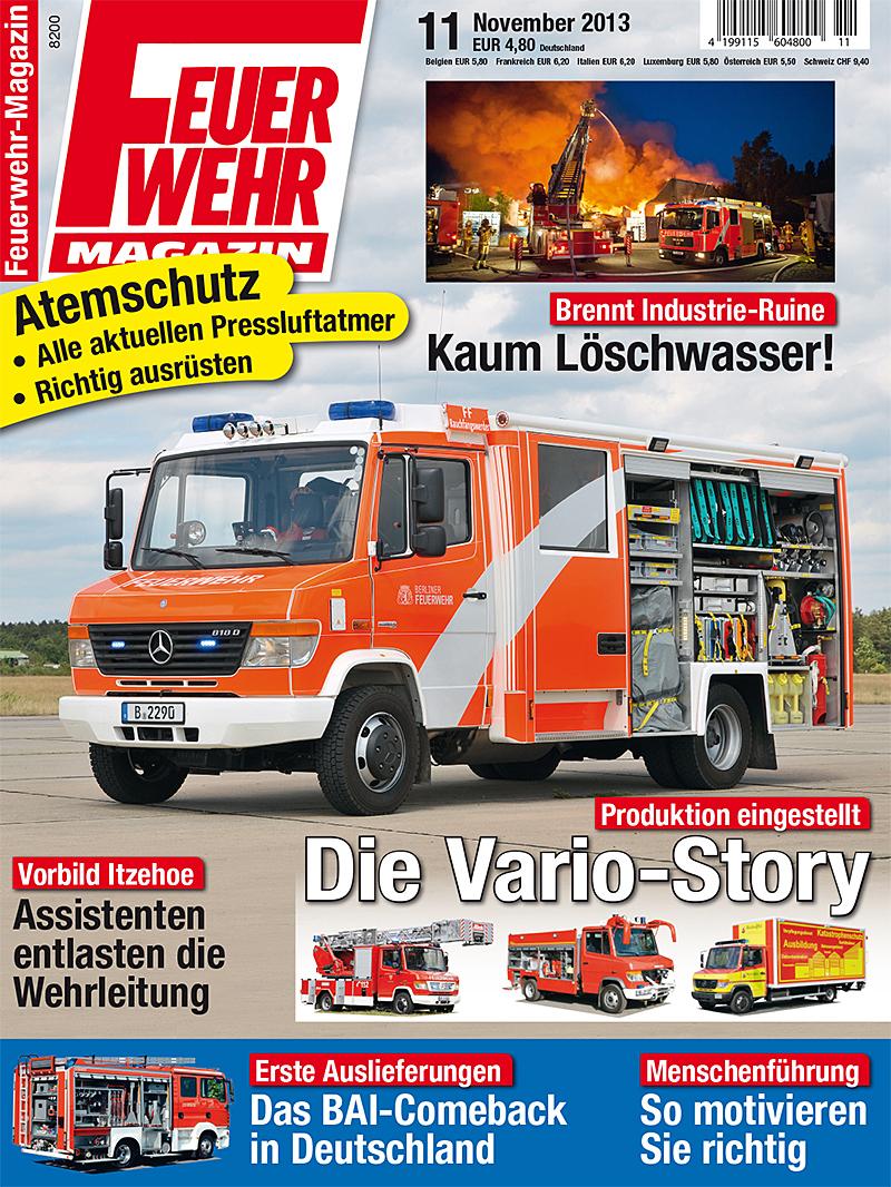 Produkt: Feuerwehr-Magazin Digital 11/2013