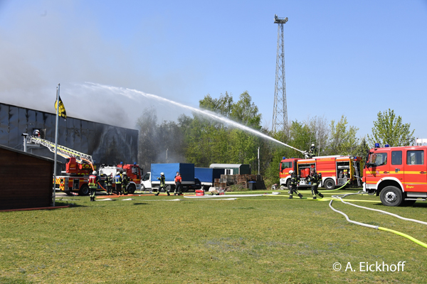 Großbrand Fabrikationshalle