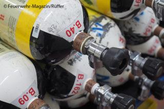 Atemluftflaschen Feuerwehr