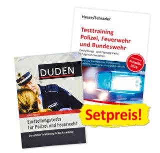Testtraining Polizei, Feuerwehr und Bundeswehr sowie Einstellungstests für Polizei und Feuerwehr