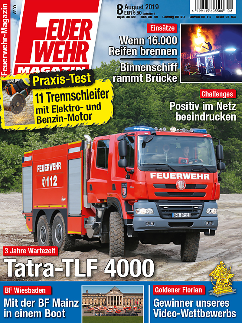 Produkt: Feuerwehr-Magazin 8/2019 Digital