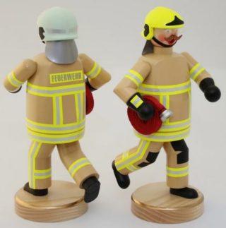 Räuchermännchen Feuerwehr Einsatz Sandfarben