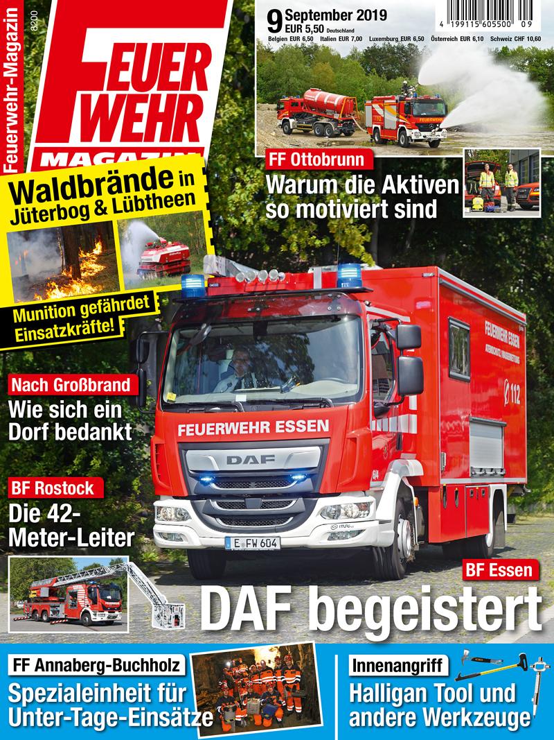 Produkt: Feuerwehr-Magazin 9/2019