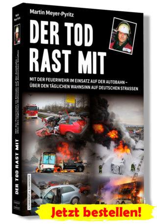 Der Tod rast mit - mit der Feuerwehr im Einsatz auf der Autobahn.