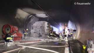 Brand im Pfändertunnel
