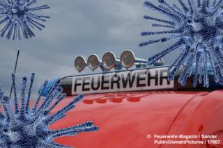 Symbolbild: Corona und Feuerwehr.