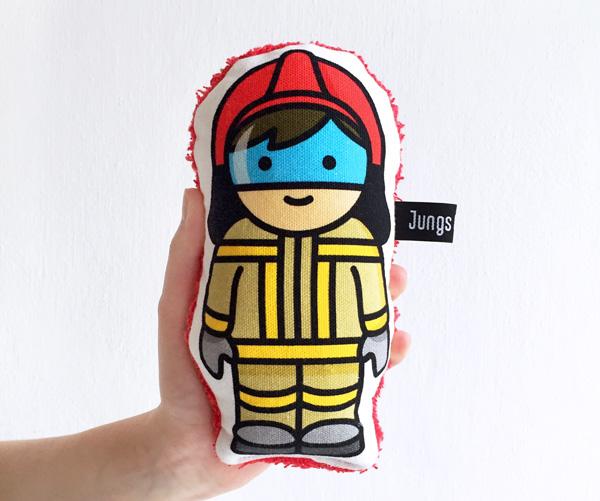 Feuerwehr Rassel Spielzeug