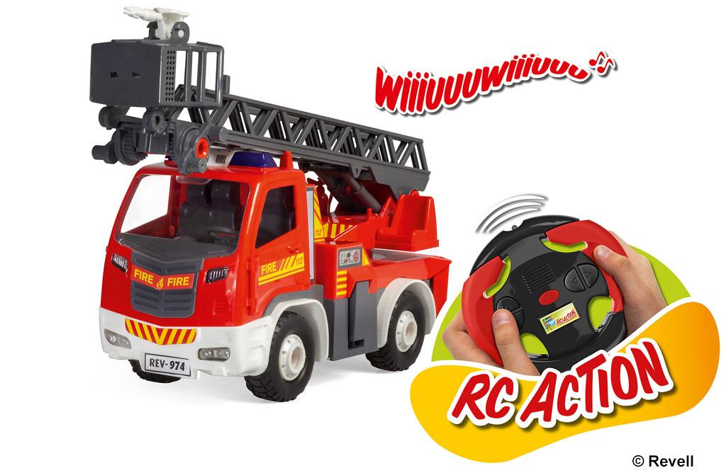Ferngesteuertes Feuerwehr Fahrzeug Drehleiter von Revell