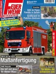 Produkt: PDF-Download: Feuerwehr-Magazin 8/2020