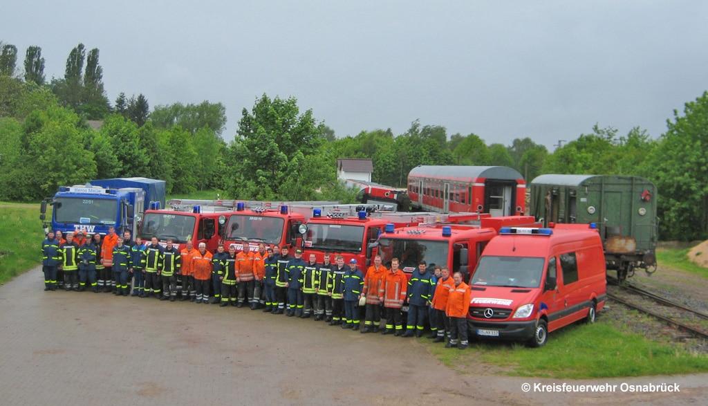 Technische Einheit Bahn-Regio in Melle (NI) besteht aus THW und Feuerwehr
