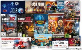 Feuerwehr PC Spiele und Feuerwehr Videospiele