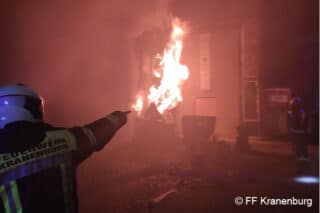 Brand in Kranenburg